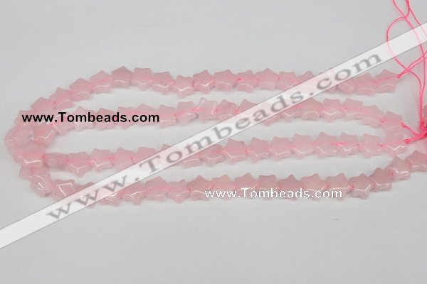CRG11 15.5 inches 12*12mm star rose quartz gemstone beads wholesale