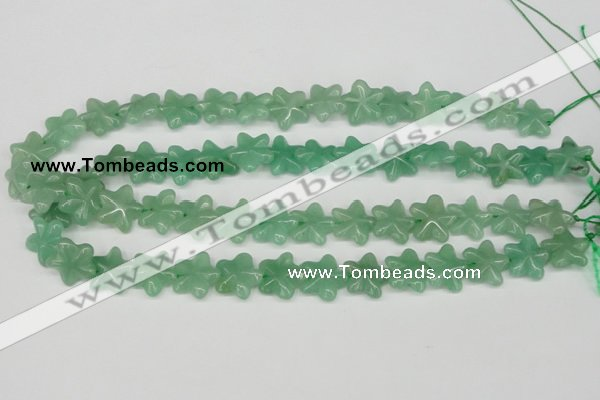 CRG15 15.5 inches 16*16mm star green aventurine gemstone beads