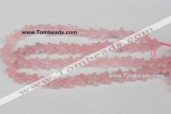 CRG25 15.5 inches 16*16mm star rose quartz gemstone beads wholesale