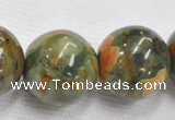 CRH09 different sizes round natural rhyolite beads Wholesale