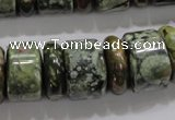 CRH115 15.5 inches 6*18mm & 12*18mm rondelle rhyolite gemstone beads