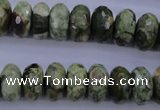 CRH119 15.5 inches 7*14mm faceted rondelle rhyolite gemstone beads