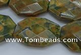 CRH152 15.5 inches 20*25mm - 22*30mm faceted freeform rhyolite beads