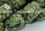 CRH17 15.5 inches 18*24mm egg-shaped rhyolite beads wholesale
