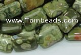 CRH25 15.5 inches 12*18mm rectangle rhyolite beads wholesale