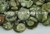 CRH36 15.5 inches 12mm flat round rhyolite beads wholesale