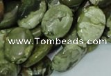 CRH45 15.5 inches 14*18mm oval rhyolite beads wholesale
