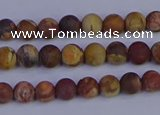 CRH510 15.5 inches 4mm round matte rhyolite gemstone beads
