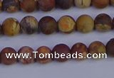 CRH511 15.5 inches 6mm round matte rhyolite gemstone beads