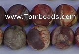 CRH515 15.5 inches 14mm round matte rhyolite gemstone beads