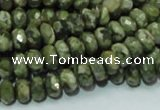 CRH52 15.5 inches 5*8mm faceted rondelle rhyolite beads wholesale