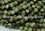CRH55 15.5 inches 6mm faceted round rhyolite beads wholesale