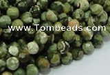CRH56 15.5 inches 8mm faceted round rhyolite beads wholesale