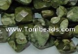 CRH73 15.5 inches 12*12mm faceted rhombic rhyolite beads wholesale