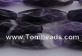 CRI05 15.5 inches 10*30mm faceted rice dogtooth amethyst beads