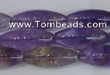 CRI100 15.5 inches 12*30mm rice natural ametrine gemstone beads