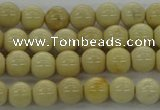 CRI201 15.5 inches 6mm round riverstone beads wholesale