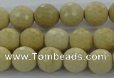 CRI212 15.5 inches 8mm faceted round riverstone beads wholesale