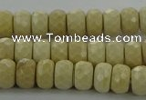 CRI221 15.5 inches 5*8mm faceted rondelle riverstone beads