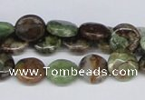 CRJ02 15.5 inches 12mm flat round african prase jasper beads wholesale