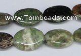 CRJ04 15.5 inches 15*20mm oval african prase jasper beads wholesale
