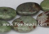 CRJ05 15.5 inches 18*25mm oval african prase jasper beads wholesale