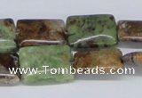 CRJ07 15.5 inches 15*20mm rectangle african prase jasper beads