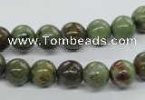 CRJ16 15.5 inches 8mm round african prase jasper beads wholesale