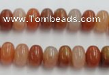 CRJ204 15 inches 7*12mm rondelle natural red jade beads