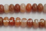 CRJ205 15.5 inches 8*15mm rondelle natural red jade beads