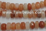 CRJ206 15.5 inches 7*12mm rondelle natural red jade beads