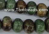 CRJ28 15.5 inches 12*16mm rondelle african prase jasper beads