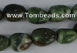 CRJ32 15.5 inches 12*16mm nuggets african prase jasper beads