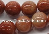 CRJ505 15.5 inches 14mm round red jade gemstone beads