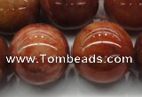 CRJ508 15.5 inches 20mm round red jade gemstone beads