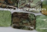 CRJ68 15.5 inches 22*30mm rectangle african prase jasper beads