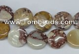 CRM01 15.5 inches 12mm coin red mud jasper gemstone beads wholesale