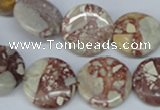 CRM03 15.5 inches 18mm coin red mud jasper gemstone beads wholesale