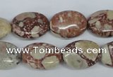 CRM05 15.5 inches 13*18mm oval red mud jasper gemstone beads wholesale
