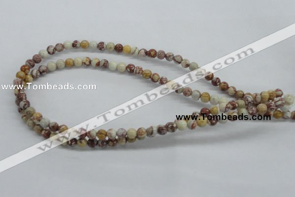 CRM12 15.5 inches 6mm round red mud jasper beads wholesale