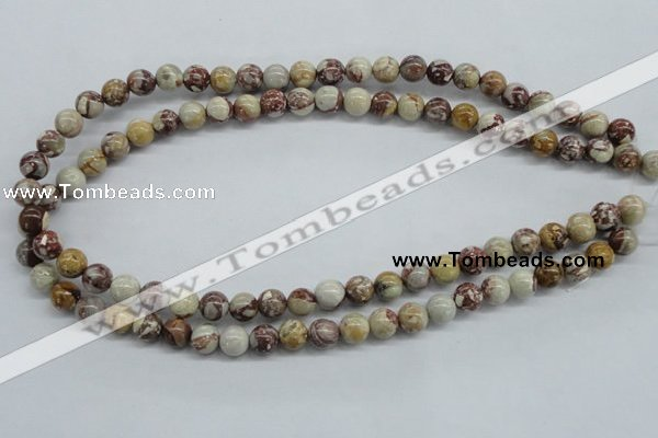 CRM14 15.5 inches 8mm round red mud jasper beads wholesale
