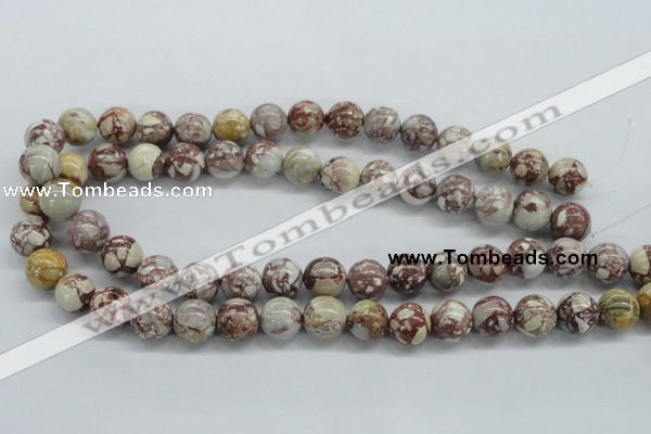 CRM15 15.5 inches 12mm round red mud jasper beads wholesale