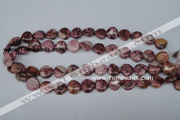 CRM52 15.5 inches 15*15mm heart dyed red mud jasper wholesale