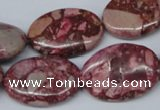 CRM54 15.5 inches 18*25mm oval dyed red mud jasper wholesale