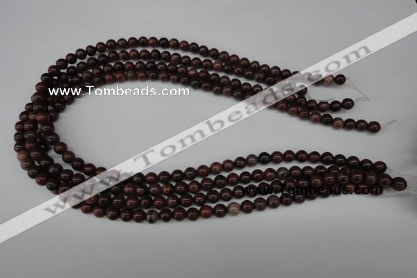 CRO05 15.5 inches 6mm round red picture jasper beads wholesale