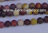 CRO1000 15.5 inches 4mm round matte mookaite gemstone beads