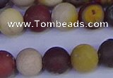 CRO1005 15.5 inches 14mm round matte mookaite gemstone beads