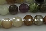 CRO1043 15.5 inches 10mm faceted round mixed gemstone beads