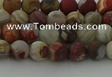 CRO1091 15.5 inches 6mm round matte laguna lace agate beads