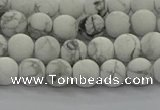 CRO1141 15.5 inches 6mm round matte white howlite beads